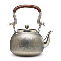 大渊银器 纯银茶壶 刃目纹银壶价格